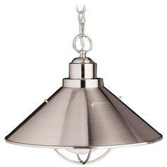 Kichler Lighting Kichler Nautical Pendant Light in Brushed Nickel Finish | 2713NI | Destination Lighting