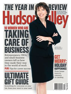 Our December 2013 issue is here! Read about our top 10 local businesswomen, the most memorable events of the year, and our Holiday Gift Guide: http://www.hvmag.com/Hudson-Valley-Magazine/December-2013  On the cover: Lisa Marie Cathie, CEO and president of Ulster Savings Bank. Photograph by Michael Polito Photography