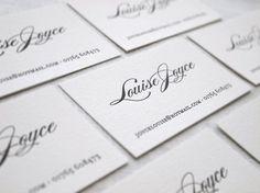 Socialite Letterpress Calling Cards