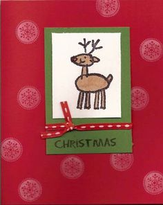 Reindeer Crayon Christmas by kewlyloch - Cards and Paper Crafts at Splitcoaststampers