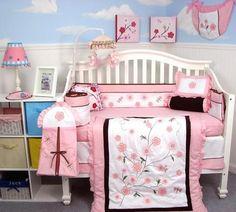 Dragonflies Garden Baby Crib Nursery Bedding Set 13 pcs included Diaper Bag