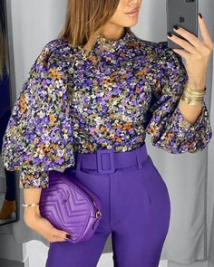 2020 New Fashion Vintage Women Blouse Floral Lantern Sleeve Top – GaGodeal Trend Fashion, Look Fashion, New Fashion, Vintage Fashion, Unique Fashion, Fashion Online, Fashion Ideas, Fashion Beauty, Fashion Tips