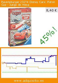Ravensburger 23274 Disney Cars: Piston Cup - Juego de mesa (Juego de mesa). Baja 45%! Precio actual 8,40 €, el precio anterior fue de 15,30 €. https://www.adquisitio.es/cars/ravensburger-23274-disney
