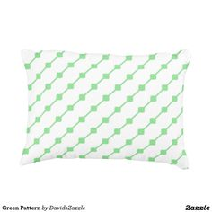 Green Pattern Throw Pillow  Available on many more products! Type in the name of this design in the search bar on my Zazzle products page!   #abstract #art #pattern #design #color #home #decor #accessory #accent #zazzle #buy #sale #decorate #apartment #house #student #college #living #modern #chic #contemporary #style #life #lifestyle #minimal #simple #plain #minimalism #square #line #white #green
