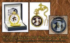 Wild Bill Hickok Old West Pocket Watch from Tribal And Western Impressions  -review The Old West Pocket Watch Collection online off of: http://www.indianvillagemall.com/oldwestpocketwatches.html