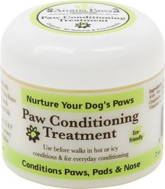 An Organic, all natural, and eco-friendly product! Nurture Your Dog's Paws with Aroma Paws Paw Conditioning Treatment. Nurture Your Dog's Paws this winter!