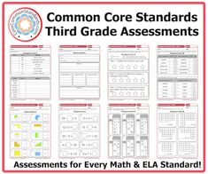 Assessments for EVERY standard...super easy to reassess struggling students after interventions