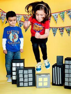 Giant Leaps! - superhero birthday party game