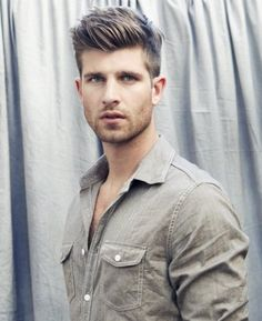 Mens Short Hair Cut - Shave Sides to Longer On top - Style - Swept Up