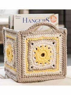 Porta revista a crochet
