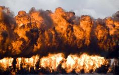 One use of napalm is as a defoliant, to clear large sections of land. - Robert Simon, Getty Images