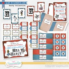 t's an Alice in Wonderland Printable Birthday Collection that  you can Personalise, Edit & Print Yourself!
