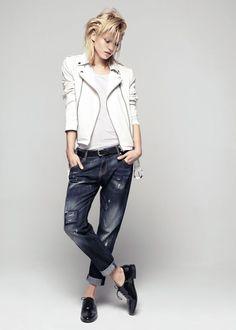 Boyfriend jeans - trendy wiosna lato 2014