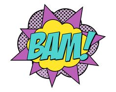 Super Girl Bam Sign  Jumbo by finedandyprintables on Etsy, $5.00 #superhero #birthday #printables