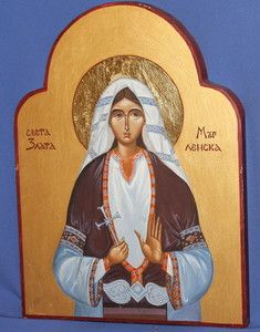Contemporary Bulgarian Orthodox Icon St Zlata Maglenska