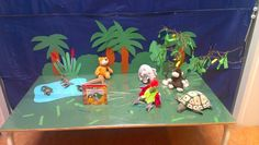 Verteltafel 'een echte papegaai' (anker dieren) Dramatic Play, Classroom, Learning, School, Painting, Art, Crocodile, Class Room, Art Background