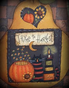 E PATTERN - Harvest Pear - Fun Fall Pattern - designed by Terrye French, painted by Me via Etsy