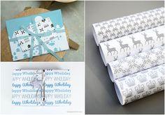 DIY christmas wrapping, free printable gift tags
