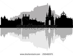 Find Edinburgh Skyline Black White Vector Illustration stock images in HD and millions of other royalty-free stock photos, illustrations and vectors in the Shutterstock collection. Thousands of new, high-quality pictures added every day. Photography Essentials, City Photography, F Tattoo, Skyline Tattoo, Scotland Map, Compass Tattoo Design, Edinburgh City, Black And White City, Skyline Silhouette