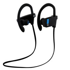 Wireless Bluetooth Sport Stereo Headphones, i-SUPERSIM Sweat-Proof Noise Reduction , Bluetooth V4.0 Headset, High-fidelity Stereo Music, Ergonomic Design for Smartphones - Black