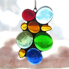 Colorful Stained Glass Abstract Suncatcher by paintedlightglass, $18.00