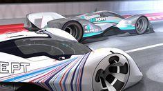 Renderings of Concept LMP1 cars racing