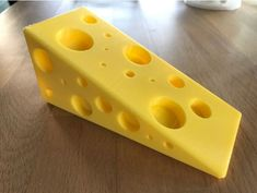 The Ultimate Cheese Doorstop! As Gouda Door Stop as You'll Find. Funny Gift for the Lactose-Tolerant! Brie all You Can Brie. Mozza-really! - Types of Cheese Cheese Puns, Cheese Wedge, Guitar Wall, Concrete Mixers, Types Of Cheese, Friends Day, Doorstop, Cookie Cutter Set, Bike Frame