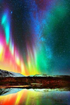 Aurora Borealis... nature's chandelier.
