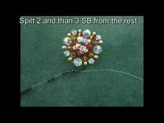Beading4perfectionists : Swarovski beaded ring tutorial - YouTube