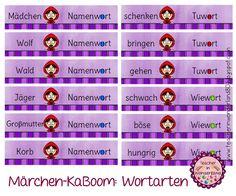 Teacher In Wonderland: Wortarten-KaBoom zu Rotkäppchen Version 1