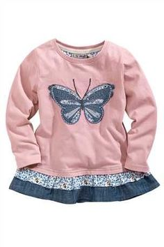 Buy Appliqué Butterfly And Spot Tunics Two Pack from the Next UK online shop