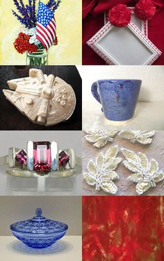TWO TEAM PATRIOTIC MASH UP by Mary Anne on Etsy--Pinned with TreasuryPin.com