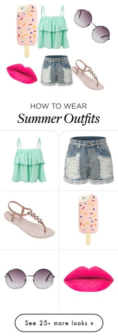 """summer outfit"" by evixxxx on Polyvore featuring LE3NO, IPANEMA, Monki and Tory Burch"
