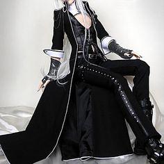 Vampire Viscount BJD Black Punk Lolita Outfit – GBP £ 36.49