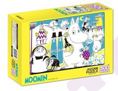 "Moomin Series Jigsaw Puzzles 500 Pieces ""Moomin A Yellow Rose and A Grape"" 