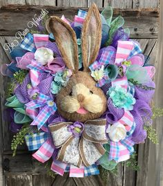 Hey, I found this really awesome Etsy listing at https://www.etsy.com/listing/518592909/bunny-wreath-easter-swag-spring-wreath