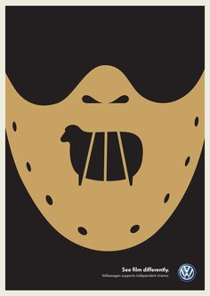 Volkswagen: See Film Differently - Silence of the Lambs - illustration by Noma Bar