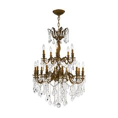 Worldwide Lighting Versailles Antique Bronze Glam Clear Glass Chandelier at Lowe's. This stunning Chandelier only uses the best quality material and workmanship ensuring a beautiful heirloom quality piece. Featuring a cast Bronze Chandelier, Candle Chandelier, Chandelier Lighting, Crystal Chandeliers, Versailles, Light Chain, Light Decorations, Clear Crystal, Ceiling Lights