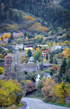 During my Fall shooting in Colorado, I stayed in this beautiful little town Ouray,CO Colorado Springs, Ouray Colorado, Colorado Mountains, Rocky Mountains, Pagosa Springs, Aspen Colorado, Oh The Places You'll Go, Places To Travel, Places To Visit