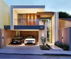 New exterior architecture facade modern home ideas 31 ideas House Front Design, Modern House Design, Modern Interior Design, Facade Design, Exterior Design, Exterior Paint, Modern House Facades, Modern Entrance, Villa