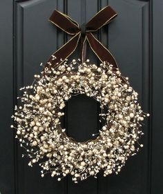 Christmas wreath.. Maybe a red bow?