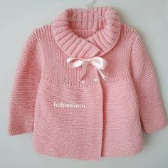 Diy Crafts - Creative Contents about DIY & Crafts, Knitting, Hairstyles, Beauty and more - Diy Crafts Gnaydnlarr Canlar Mutlu Keyifli Pazarl 49518 Crochet Baby Sweaters, Baby Cardigan Knitting Pattern, Knitted Baby Cardigan, Knitted Coat, Baby Knitting Patterns, Knitting Designs, Baby Patterns, Crochet Jacket, Diy Crafts Knitting