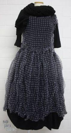 "www.modegalerie-bongardt.de - rundholz mode, rundholz black label, rundholz dip Rundholz black label transparentes Kleid/Tunika ""check or flowers""... in 2 verschiedenen Mustern ! 3970901-S15"
