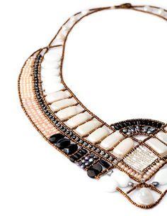 Mai black and white necklace. Ziio