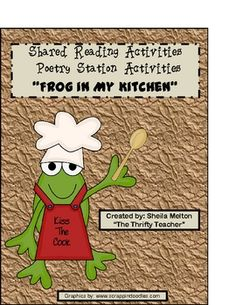 My most popular poetry unit!! This a poem I use during our shared reading time. I wrote the poem on sentence strips, put it in a pocket chart and used it for the week. After the... frog theme