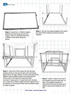 Page 2 Klever Cages Free  PVC Chicken Coop Plan