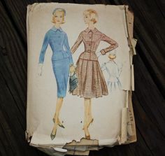 McCall 5512 1950s 50s Jacket Skirt Suit Sewing Pattern Size 12 Bust 32 by EleanorMeriwether on Etsy
