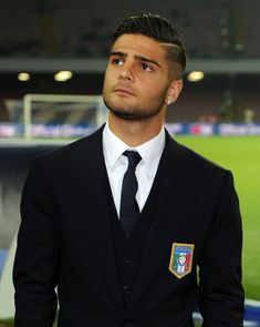 Lorenzo Insigne, don't let the suit fool you. Another sexy Itatlian soccer player. ;)