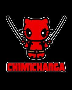 : Chimichanga T-Shirt ~ $10 Hello Kitty / Deadpool tee from ShirtPunch.