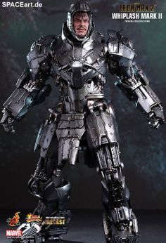 Iron Man 2: Whiplash Mark II - DieCast Deluxe Figur, Fertig-Modell ... http://spaceart.de/produkte/spa015.php